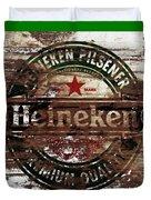 Heineken Beer Wood Sign 1a Duvet Cover