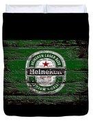 Heineken Beer Wood Sign 2 Duvet Cover