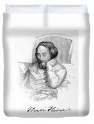 Heinrich Heine, German Writer Duvet Cover