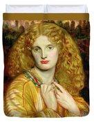 Helen Of Troy Duvet Cover by Dante Charles Gabriel Rossetti