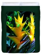 Heliconia Caribea Gold Duvet Cover