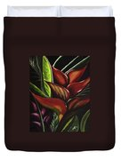 Heliconia Flower Duvet Cover