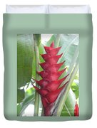 Heliconia Hot Flash Duvet Cover