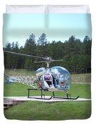 Helicopter Ride South Dakota Duvet Cover