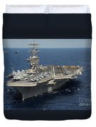 Helicopter's Approaches The Flight Deck Duvet Cover