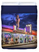 Hellas Restaurant Duvet Cover