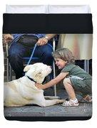 Hello Dog Duvet Cover
