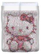 Hello Kitty Button Mosaic Duvet Cover
