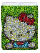 Hello Kitty Mm Candy Mosaic Duvet Cover