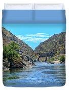 Hells Canyon Dam  Duvet Cover