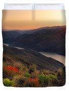 Hells Canyon Sunrise Duvet Cover
