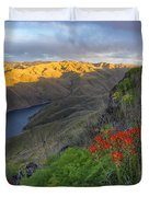 Hells Canyon View Duvet Cover