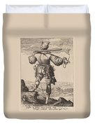 Helmeted Musketeer Duvet Cover