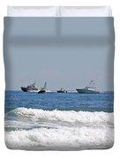 Helter Skelter At Sea Duvet Cover