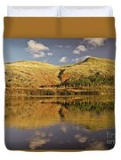 Helvellyn Mountain Reflections Duvet Cover