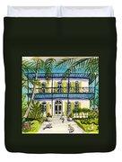 Hemingway's Home Key West Duvet Cover