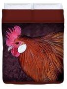 Hen Chicken, Digital Paint Duvet Cover
