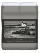 Hendricks Head Lighthouse, Maine Duvet Cover