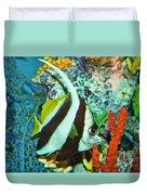 Heniochus Butterfly Duvet Cover