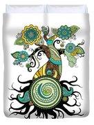Henna Tree Of Life Duvet Cover