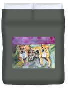 Henry And Sam And Jack Duvet Cover