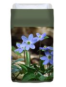 Hepatica Blue Duvet Cover by Lori Frisch