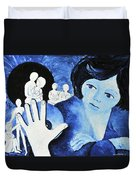 Her Ghosts Of The Past...always Past And Present... Duvet Cover