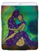 Her Loves Embrace Divine Love Series No. 1006 Duvet Cover