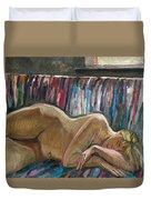 Her Sleep Duvet Cover