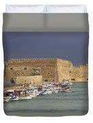 Heraklion Castle Crete Greece Duvet Cover