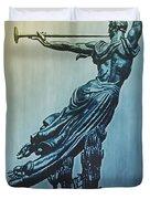 Heraldic Memorial Statue At Gettysburg Duvet Cover