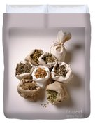 Herbal Teas And Seeds Duvet Cover