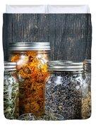 Herbs In Jars Duvet Cover