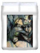 Hercule And Omphale Duvet Cover