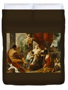 Hercules And Omphale Duvet Cover