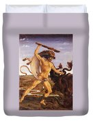 Hercules And The Hydra Duvet Cover