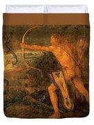 Hercules Kills The Symphalic Bird 1520 Duvet Cover