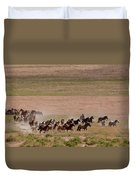 Herd On The Move Duvet Cover