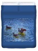 Herding Geese Duvet Cover