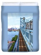 Here Comes The Train Duvet Cover