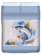 Here Fishy, Fishy Duvet Cover