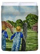 Here Horsey Horsey Duvet Cover