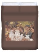 Here The Family Can Make Coffee Duvet Cover