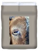 Here's Looking At You Kid - The Truth About Goats' Eyes Duvet Cover