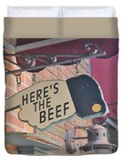 Heres The Beef Duvet Cover