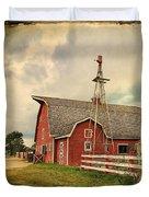Heritage Village Barn Duvet Cover