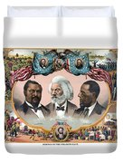 Heroes Of The Colored Race  Duvet Cover