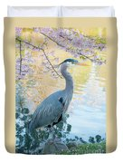 Heron - Beacon Hill Park Duvet Cover