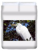 Heron Deep Contemplation Duvet Cover