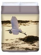 Heron Fly-by Duvet Cover